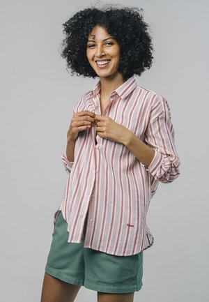 ETHNIC STRIPE - Button-down blouse - red