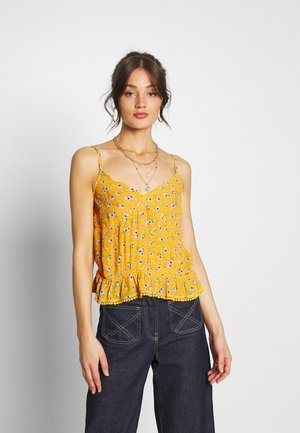 SUMMER CAMI - Top - yellow floral