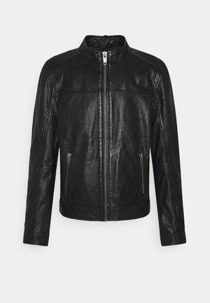 DUBLIN - Leather jacket - black