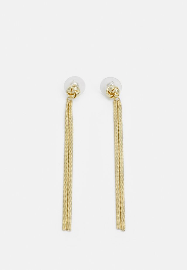 KNOT CHAIN - Earrings - gold-coloured