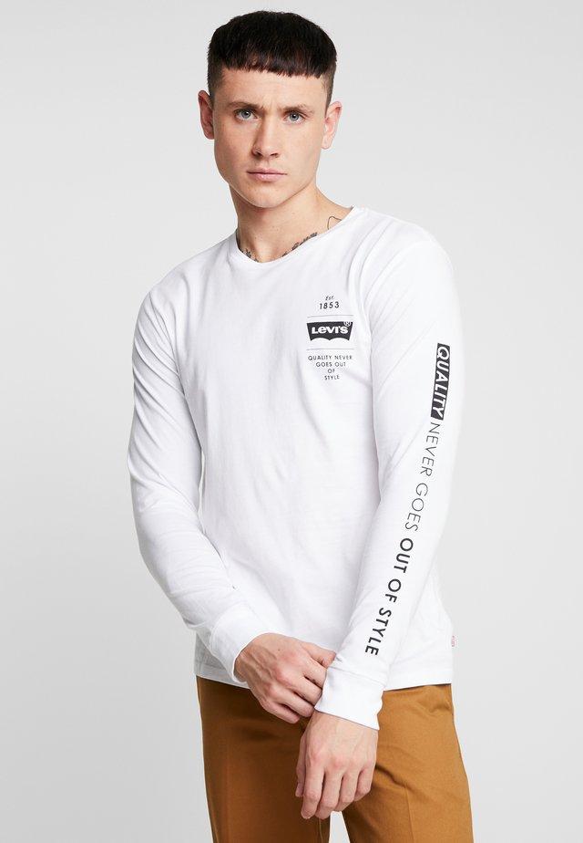 GRAPHIC TEE - Langærmede T-shirts - white