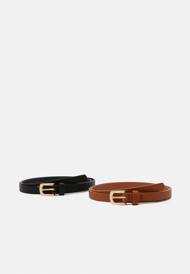 2 Pack - Belt - black/cognac