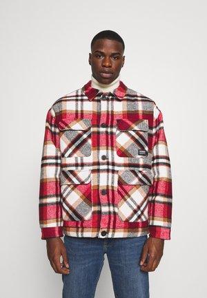 TINO JACKET - Summer jacket - red/brown