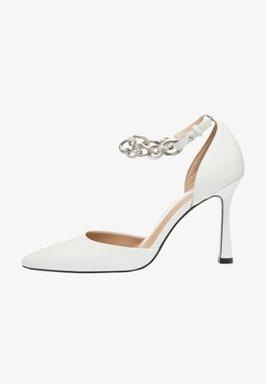ANKLE CHAIN - Decolleté - white