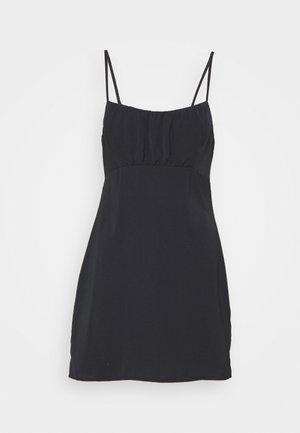 CHASE RUCHED SHORT SLIP DRESS SET - Shift dress - black