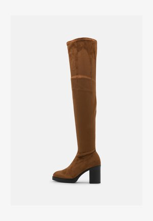 ONLBUBBLE - High heeled boots - cognac