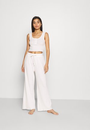 SUPER SOFT BED TANK WIDE LEG PANT - Pyjamas - oatmeal