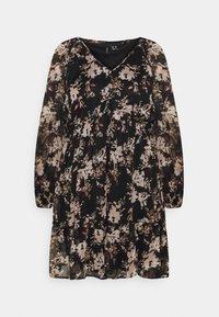 Vero Moda Curve - VMFRIDA V NECK DRESS - Day dress - black - 4