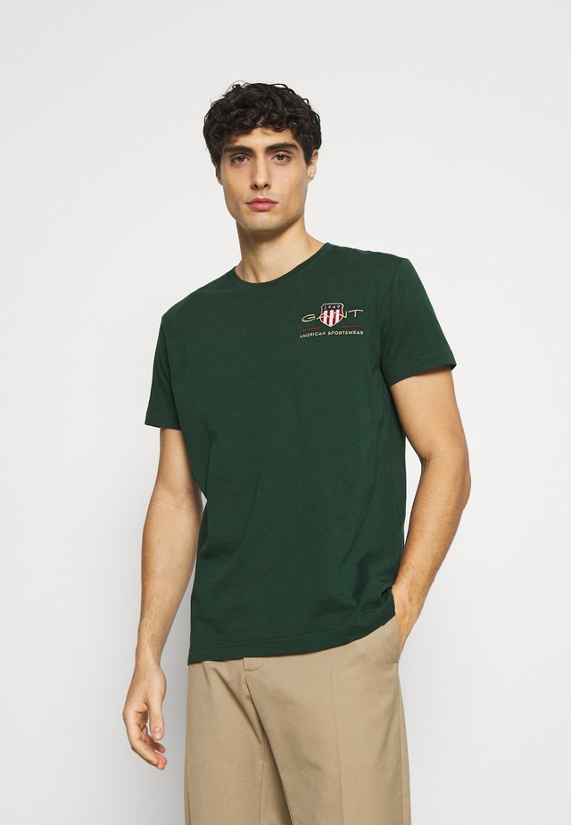 ARCHIVE SHIELD - Camiseta estampada - tartan green