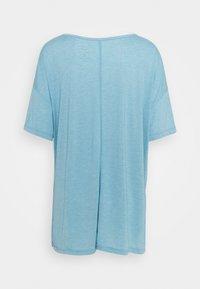 Nike Performance - YOGA LAYER PLUS - T-shirts - cerulean heather/glacier blue/light armory blue - 1