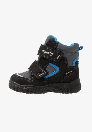 HUSKY - Baby shoes - schwarz/blau