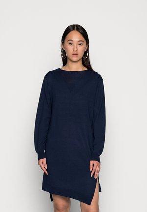 CROSS DRESS KNIT - Jumper dress - luna blue