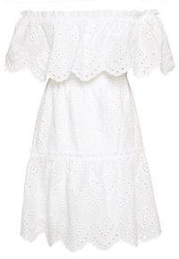 VILA PETITE - VISABELLA OFFSHOULDER DRESS - Robe d'été - snow white - 1