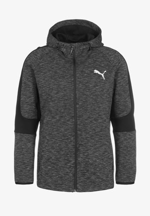 EVOSTRIPE - veste en sweat zippée - black
