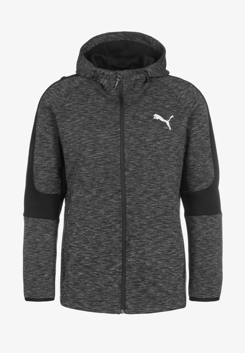 Puma - EVOSTRIPE - Zip-up sweatshirt - black