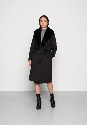 TINA FELLED WRAP COAT - Classic coat - black