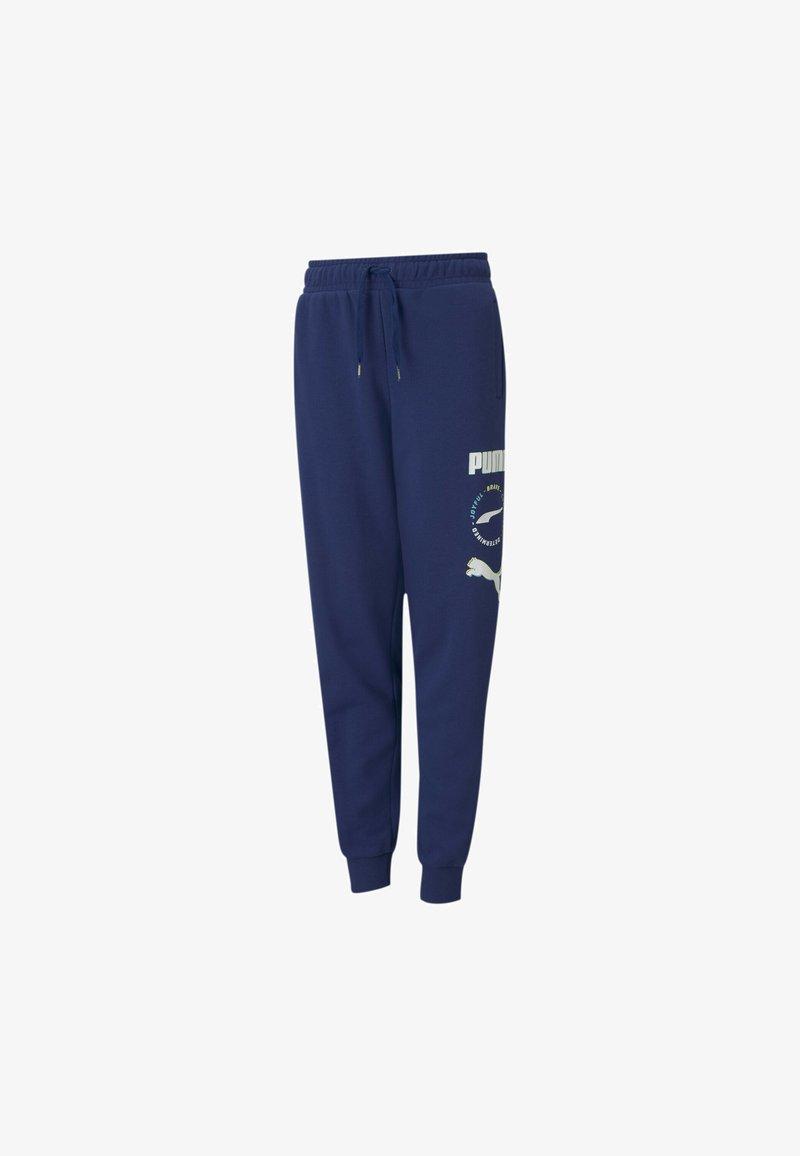 Puma - ALPHA  - Tracksuit bottoms - elektro blue