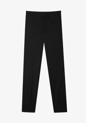 MIT GUMMIZUG - Pantaloni - black