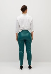 Violeta by Mango - POLI - Leggings - Trousers - dark green - 2