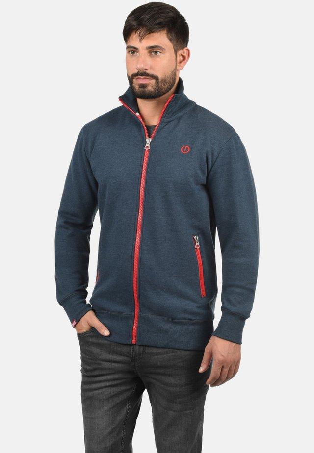 BENNTRACK - veste en sweat zippée - blue melange