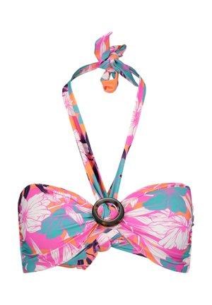 RING FRONT BANDEAU - Bikini top - pink