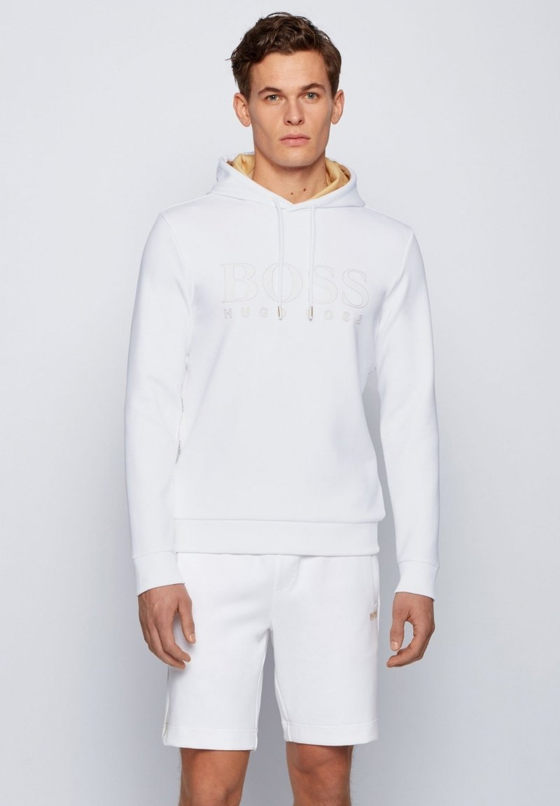 BOSS ATHLEISURE - SOODY - Kapuzenpullover - white