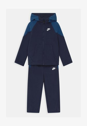 MIXED MATERIAL SET - Tracksuit - midnight navy