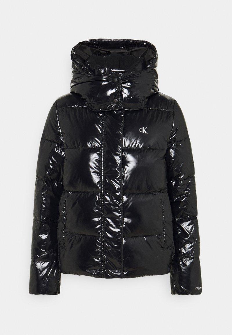 Calvin Klein Jeans - HIGH SHINE PUFFER - Winter jacket - black