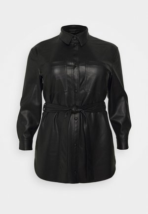 VMBUTTERDEBBIE JACKET - Faux leather jacket - black