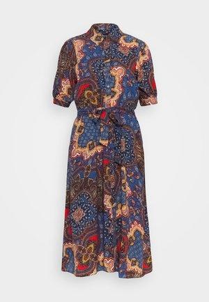 PAISLEY SHIRT DRESS - Korte jurk - blue