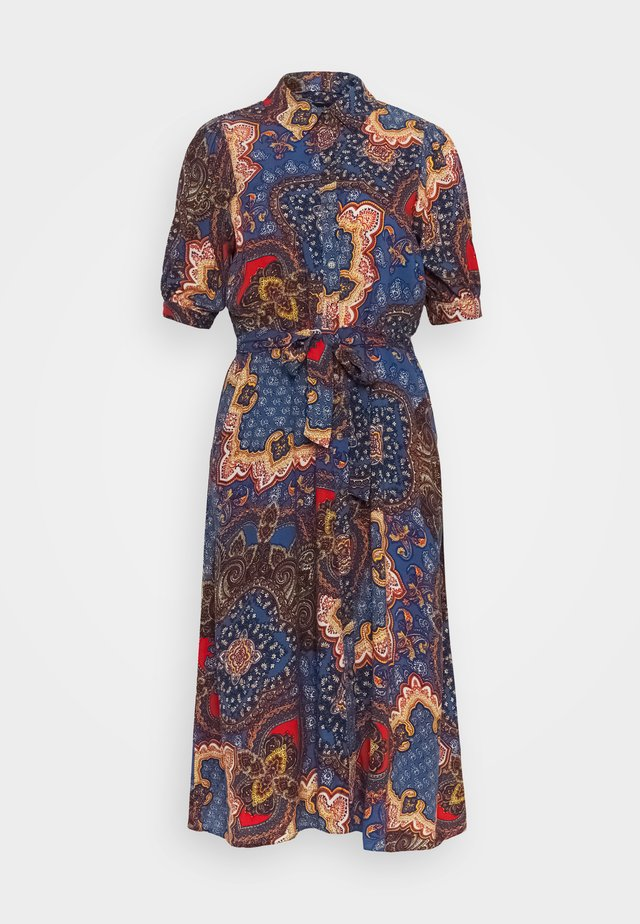 PAISLEY SHIRT DRESS - Day dress - blue