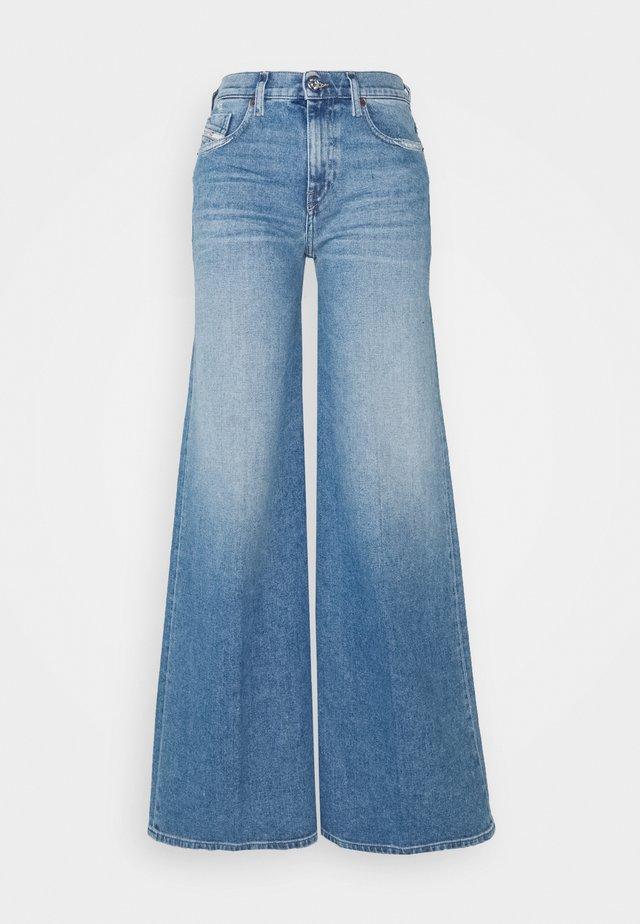 D-AKEMI - Jeans a zampa - light blue