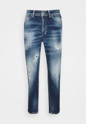 ZOE - Straight leg jeans - medium blue with paint splatter
