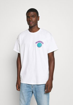 UNISEX MENNACE TWISTED  - T-shirt con stampa - white