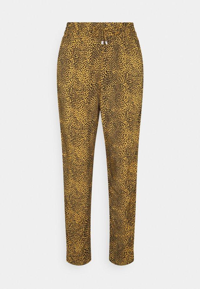 ANIMAL TAPER TROUSERS - Spodnie materiałowe - yellow