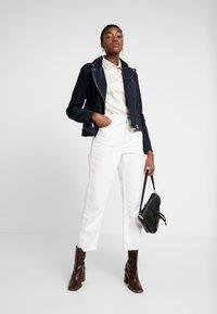 Selected Femme - SLFMARLEN JACKET - Leather jacket - night sky - 1