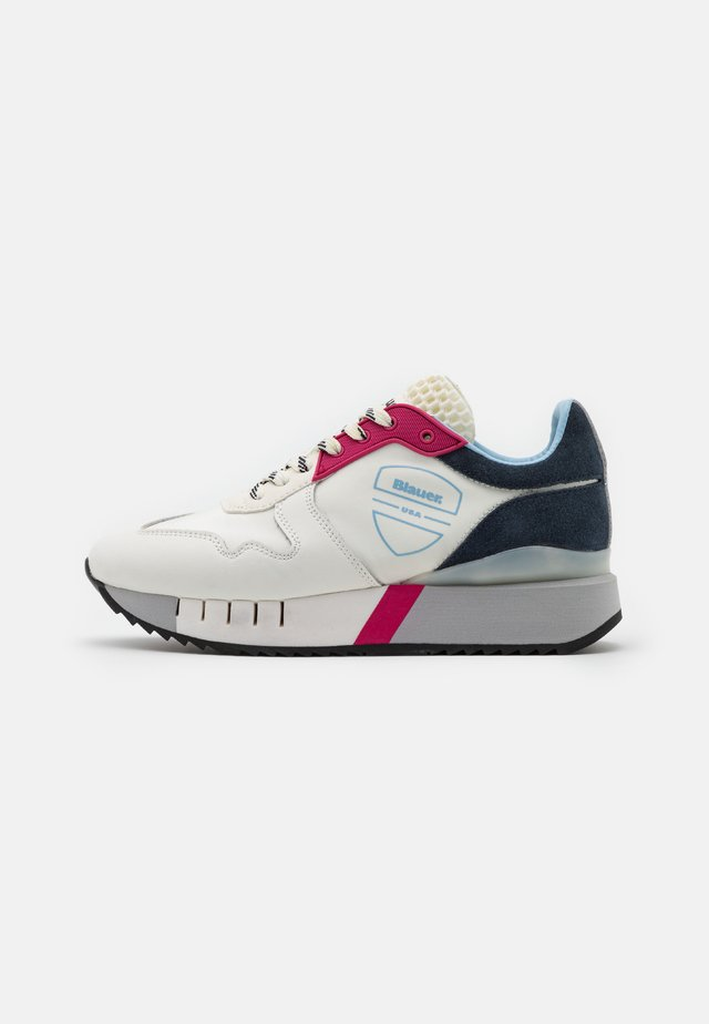 Sneakers laag - white/red/navy