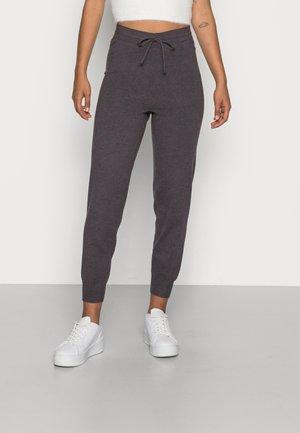 ONLCOZY SLIM PANTS - Trousers - dark grey melange