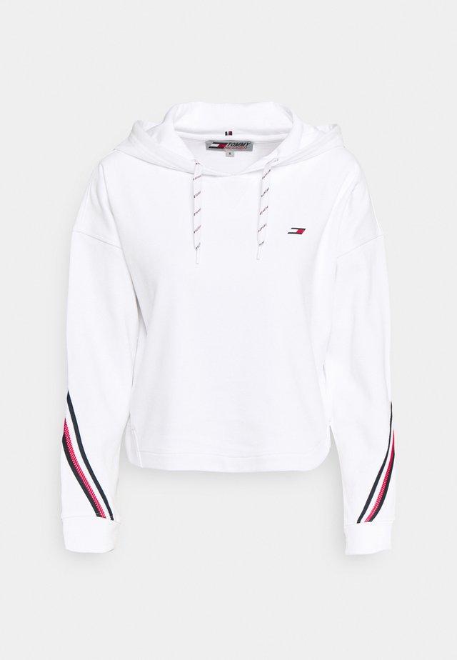 RELAXED DOUBLE  HOODIE  - Sweatshirt - optic white