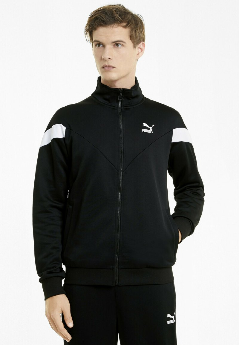 Puma - ICONIC MCS  - Zip-up hoodie - puma black