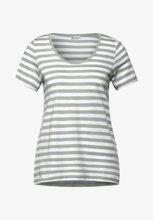 MIT STREIFEN MUSTER - Print T-shirt - grün