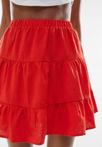 Bershka - A-line skirt - red - 3