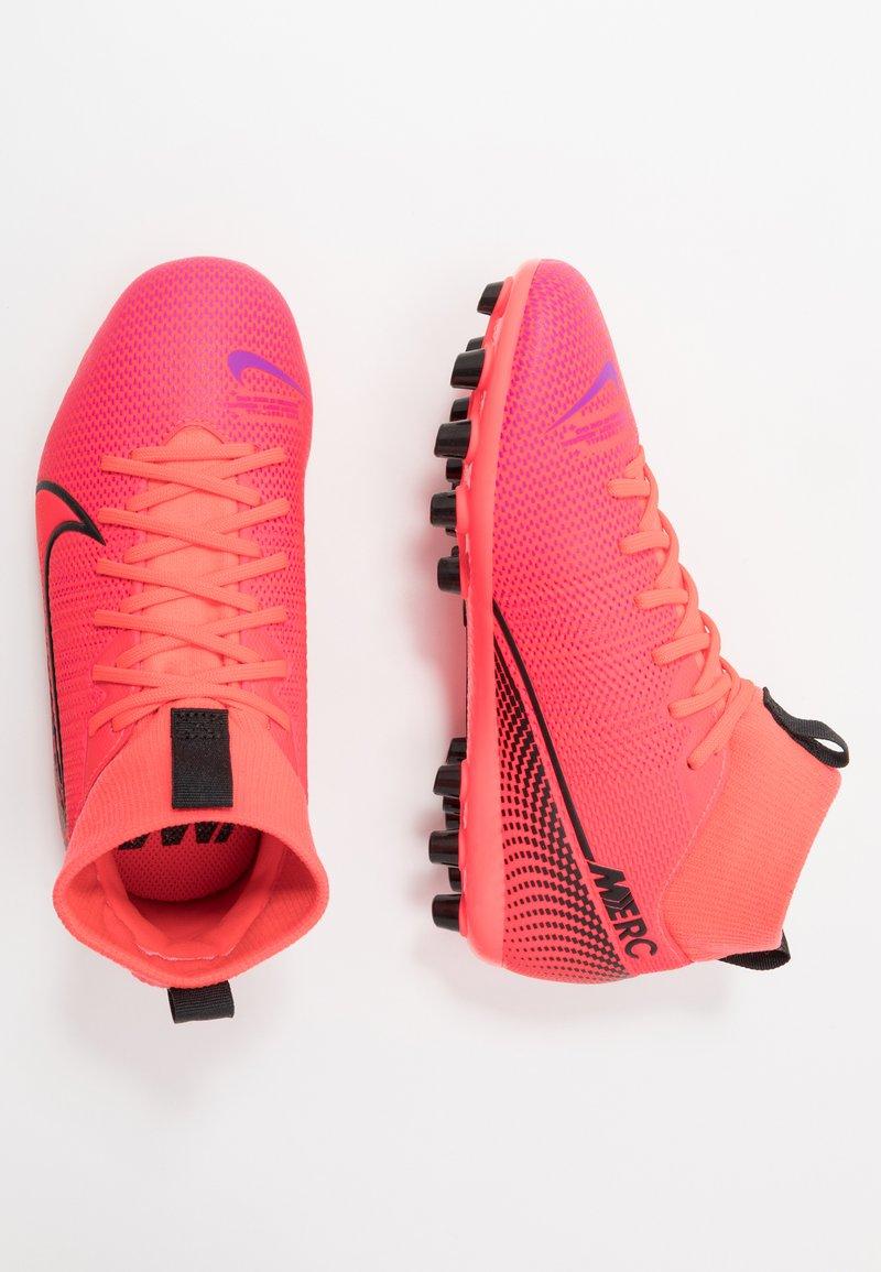 Nike Performance - MERCURIAL 7 ACADEMY AG - Moulded stud football boots - laser crimson/black