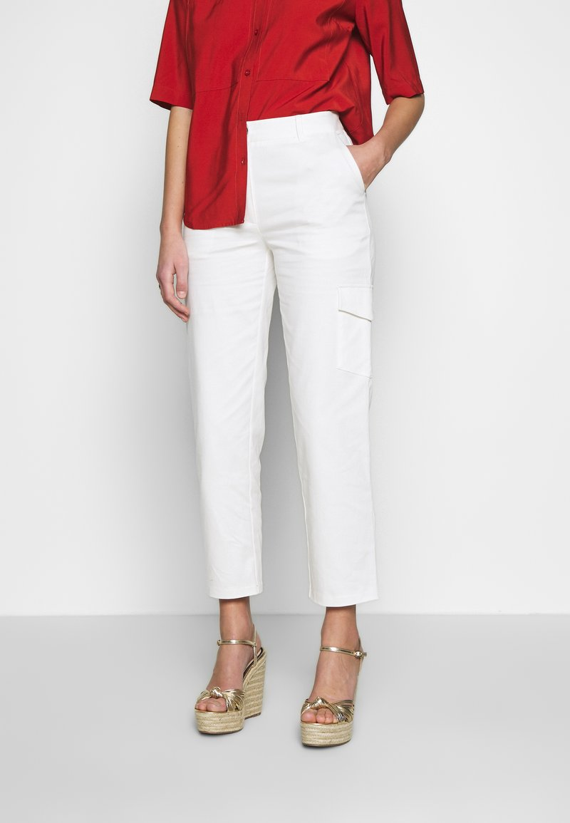Another-Label - AUDREY PANTS - Trousers - off white