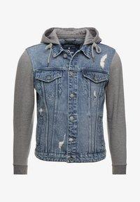 Only & Sons - ONSCOIN HOOD TRUCKER - Denim jacket - blue denim - 4