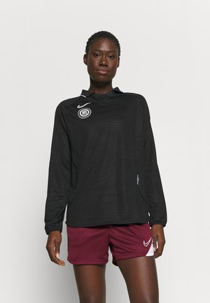 Long sleeved top - black/reflective silver