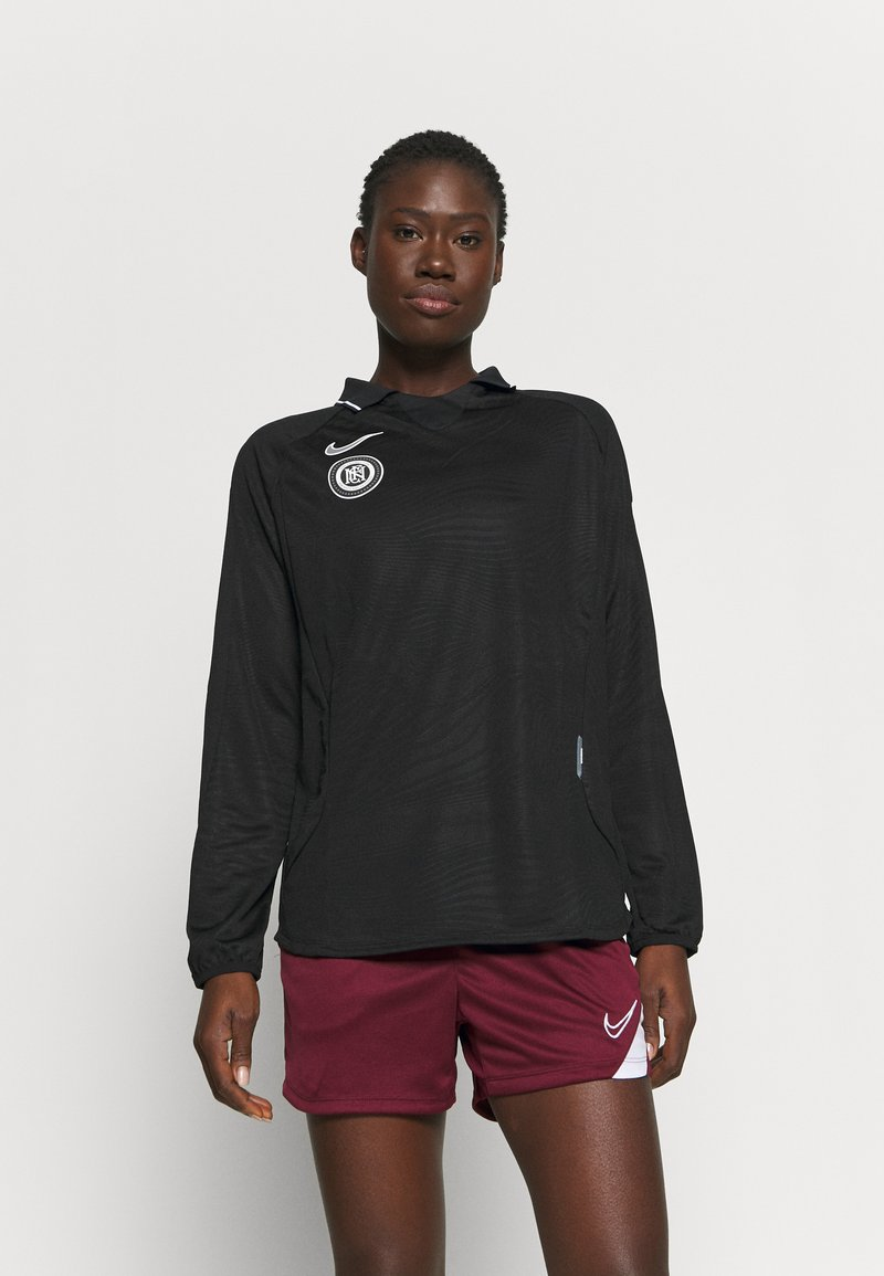 Nike Performance - Long sleeved top - black/reflective silver