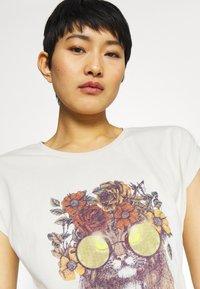 Cream - CARRIECR - Print T-shirt - white - 3