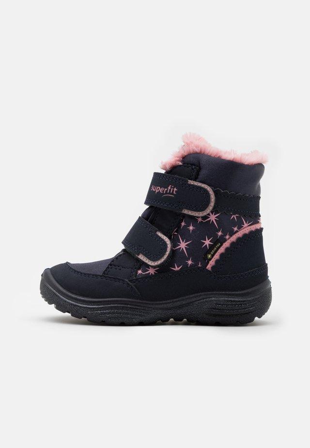 CRYSTAL - Winter boots - blau/rosa