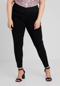 Zizzi - PANT LONG SLIM LEG - Broek - black - 0